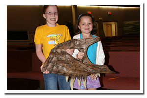 Children with fossils